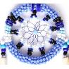 Blauer Auto Traumfänger Leilo mit Sternenmuster