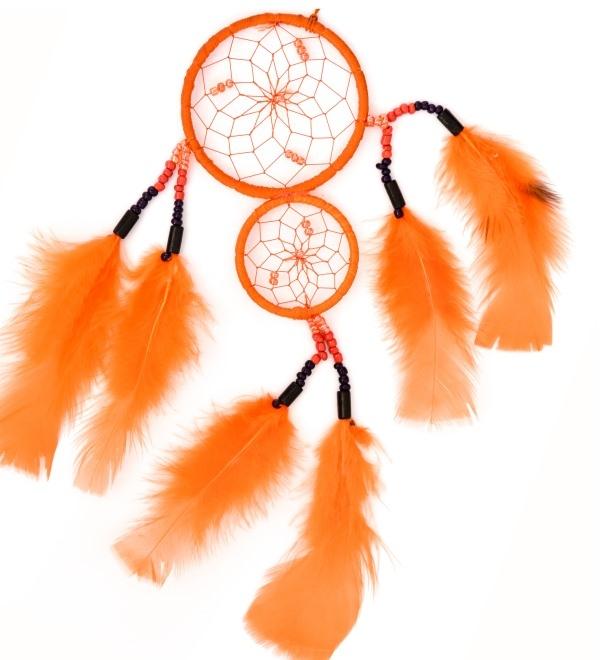 Oranger Traumfänger Aranjo mit 2 Ringen