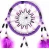 Violetter Traumfänger Nina mit Sternenmuster