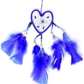 Blauer Herz Traumfänger Sky