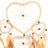 Hellbrauner Herz Traumfänger Valentino mit 5 Ringen
