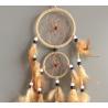 Mittelgrosser hellbrauner Traumfänger Naturino mit 2 Ringen