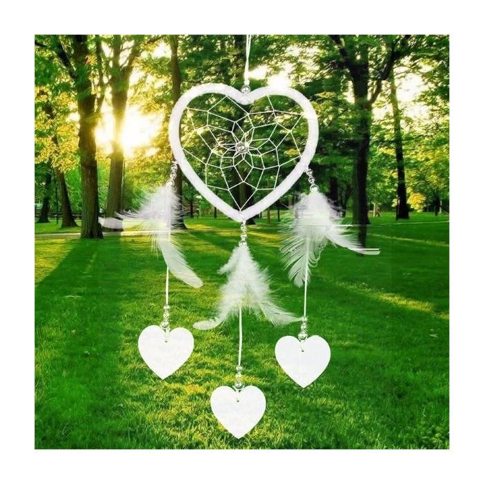Weisser Herz Traumfänger Bellezza