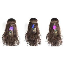 Violettes Indianer Haarband...