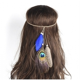 Blaues Indianer Haarband...