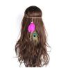 Rotes Indianer Haarband Dora mit Pfauenfeder - Kopfschmuck