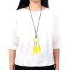 Gelber Traumfänger Anhänger Yela mit Leder Halskette - Schmuck
