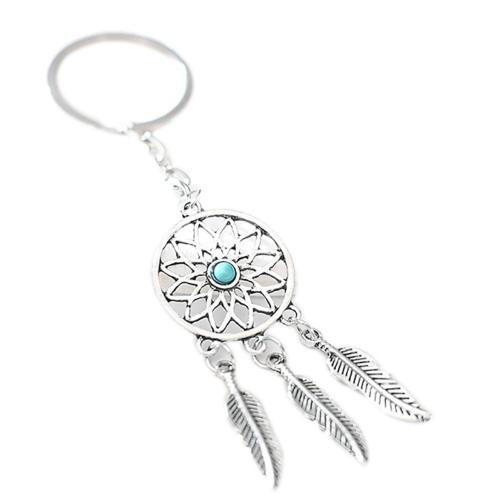 Silberfarbiger Traumfänger Schlüsselanhänger Vero