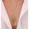 Goldfarbige Halskette mit Traumfänger Schmuck Anhänger, Modeschmuck