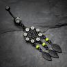 Schwarzes Traumfänger Bauch Piercing Black Flower - Modeschmuck