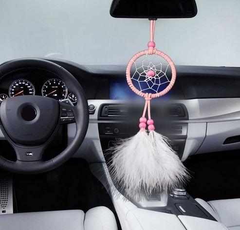 Kleiner rosa Auto Traumfänger Gabriella