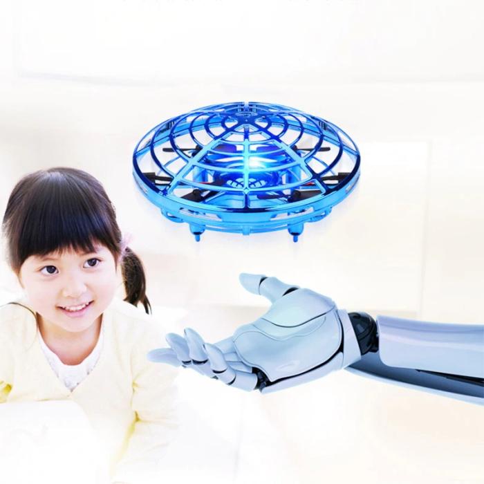 Selbstfliegende UFO Mini Drohne – Quadrocopter mit Infrarot Sensoren