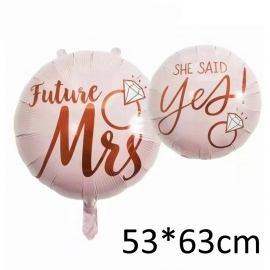 Grosser pinker Hochzeitsballon